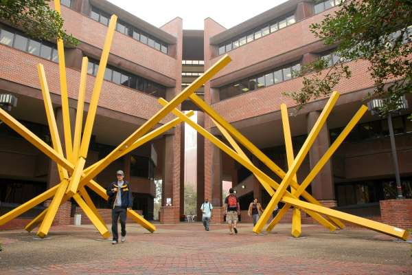 French Fries sculpture outside Marston Science Library